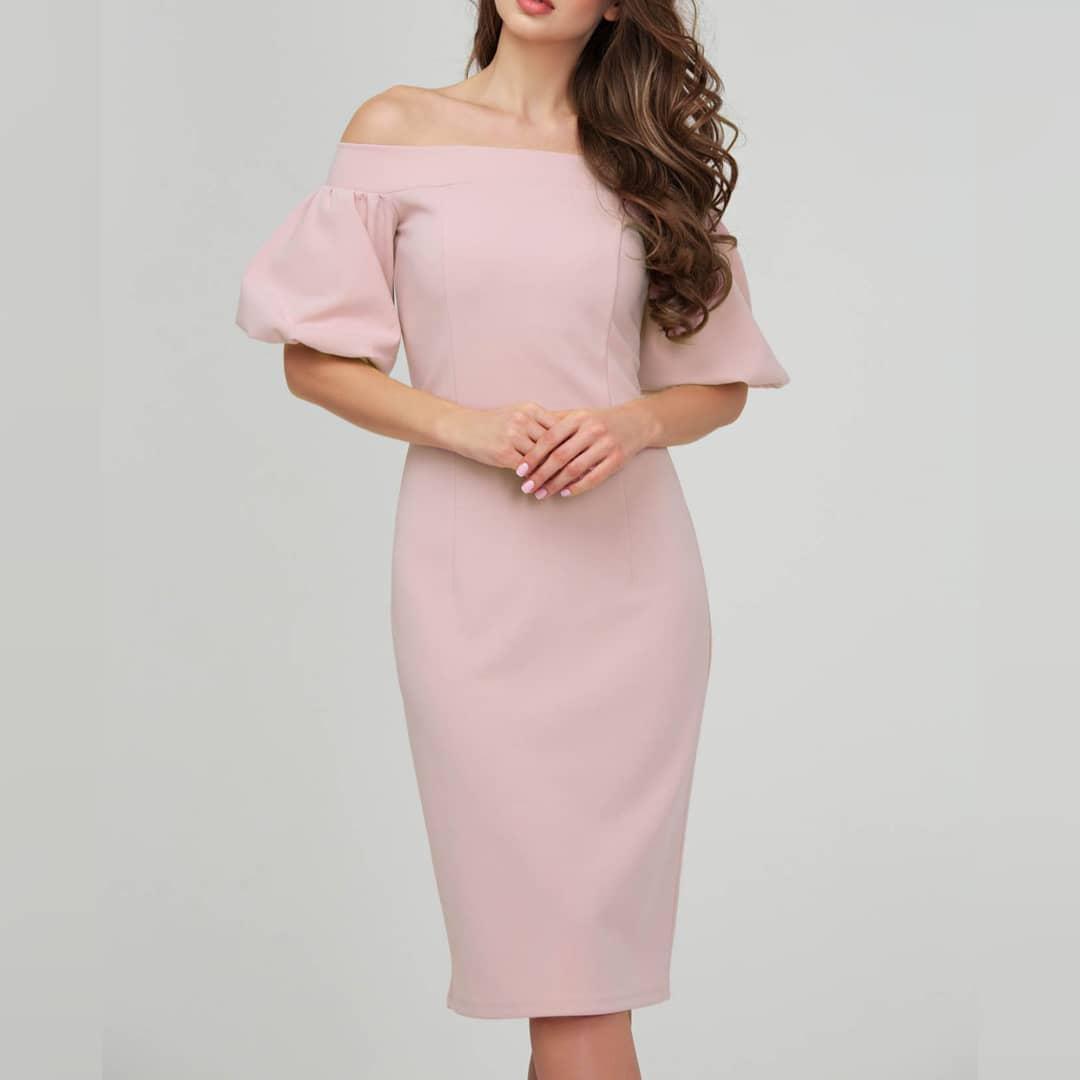 72ab3f86fa9 Платье футляр розового цвета