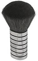 Шетка сметка парикмахерская для сметания волос Sibel серебристая