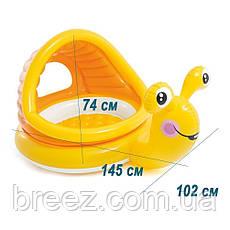 Дитячий надувний басейн Intex Равлик з навісом 145 х 102 х 74 см, фото 2