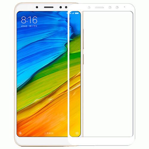 Захисне і загартоване скло GLASS для смартфона Xiaomi Redmi Note 5/5 PRO з білою рамкою