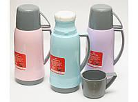 T118 ТЕРМОС 500 МЛ СТЕКЛЯННАЯ КОЛБА, Питьевой термос, термос с чашкой, Термос с крышкой, Термос для напитков