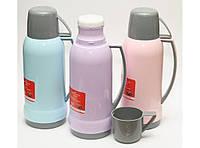 T120 ТЕРМОС 1Л СТЕКЛЯННАЯ КОЛБА, Питьевой термос, термос с чашкой, Термос с крышкой, Термос для напитков