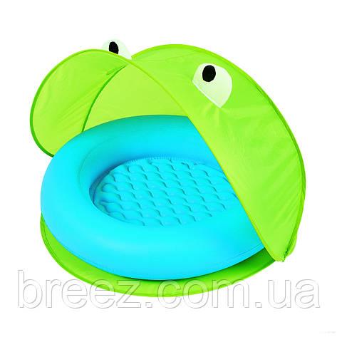 Детский надувной бассейн Bestway зеленый с навесом 97 х 97 х 74, фото 2