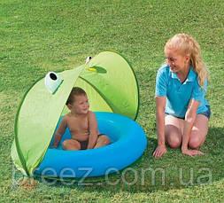 Детский надувной бассейн Bestway зеленый с навесом 97 х 97 х 74, фото 3