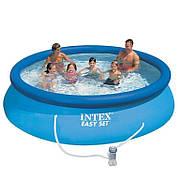 Надувной бассейн с фильтрующим насосом Intext 28132 (366*76 см)