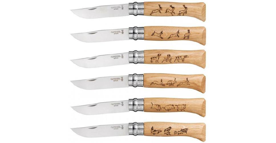 Набор ножей (6 шт.) Opinel Animalia