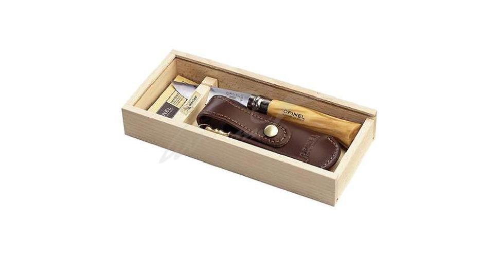 Нож Opinel №8 Inox дуб (чехол и точило)