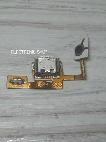 Шлейф с кнопкой и разъемом заряда LG E730 оригинал б.у, фото 2