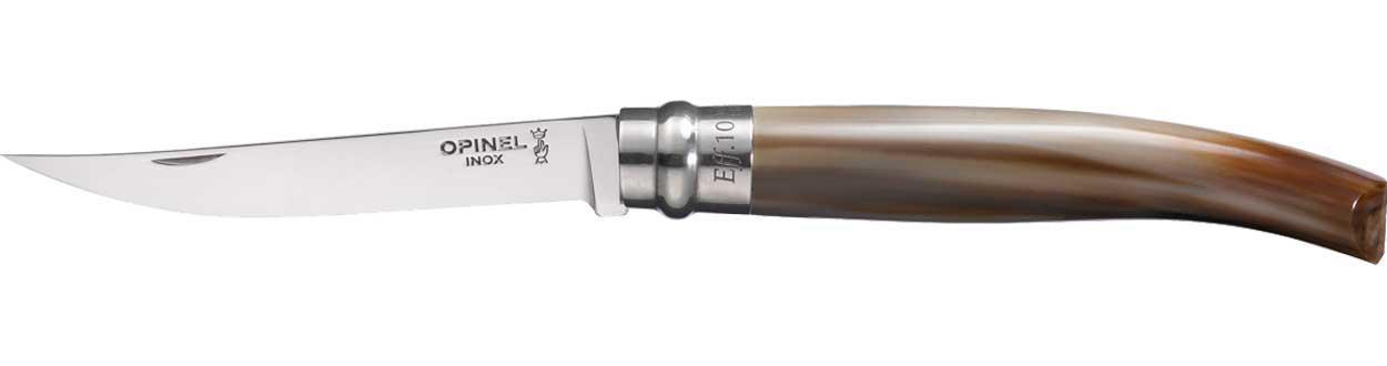 Нож Opinel Effile №10 олений рог (чехол)
