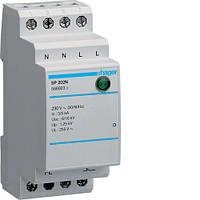 Аппаратная защита Hager SP203N, 1+N-PE с индикацией, 3kA