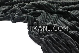Minky Stripes плюш черны цвета  №с-8