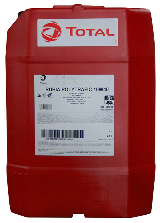 Total Rubia Politrafic 10W-40 20л