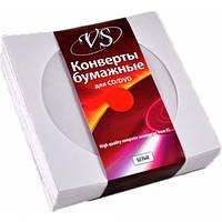 VS конверт для CD и DVD дисков белый с окошком