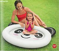 """Бассейн Intex детский с надувным дном """"Панда"""" 117*89*14см (59407), для дачи, надувной, летний, для детей"""
