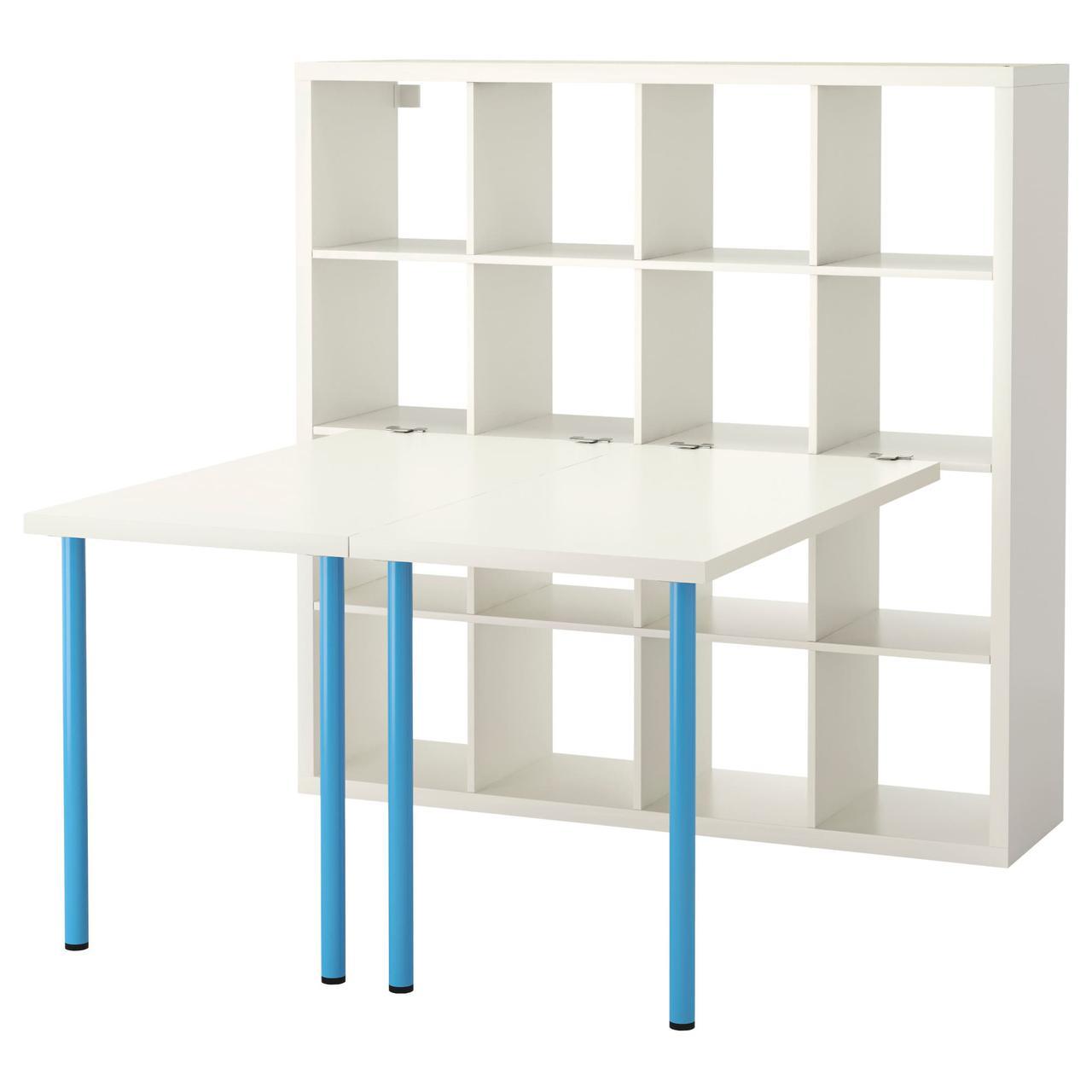 Ikea Kallax письменный стол белый синий 147x147 см 49133616