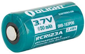 Аккум. батарея Olight RCR 123 Li-Ion 650 mAh