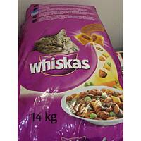 Корм Whiskas (Вискас) для взрослых кошек с курицей 14 кг , фото 1