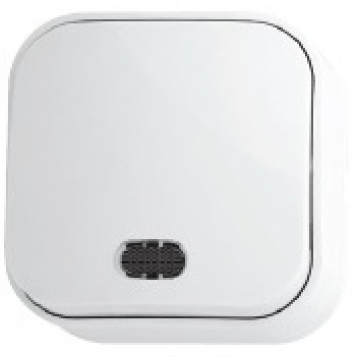 Вимикач 1-клавішний з підсвіткою білий EVA