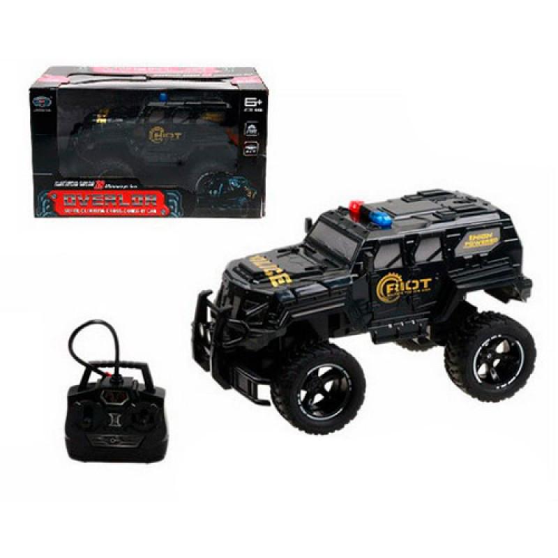 Джип на р/у, аккумулятор, полиция, 1:14, 33см, резиновые колеса, LK824