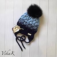 Зимняя детская шапочка. Ручная работа., фото 1