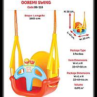 """Качеля детская """"DOREMI"""" 33х47х58 (06-118) Pilsan, качелька для детей, детская игрушка, подвесная"""
