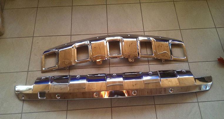Накладки переднего и заднего бамперов на Mercedes ML-class W164