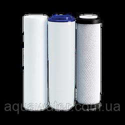 Комплект картриджів Ecosoft для потрійних фільтрів (для жорсткої води)