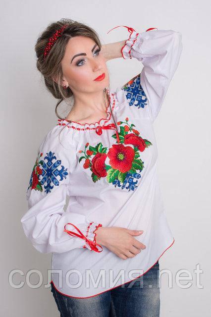 Стильная женская блуза с вышивкой  40-48 рр