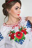 Стильная женская блуза с вышивкой  40-48 рр, фото 2