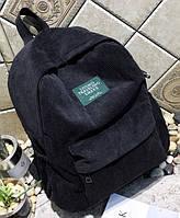 Рюкзак женский вельветовый LUYISABER городской Черный