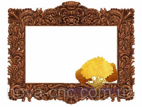 Резная рама из дерева  для картин и зеркал 59