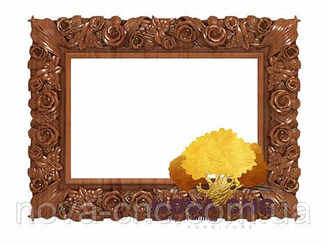 Резная рама из дерева  для картин и зеркал 67