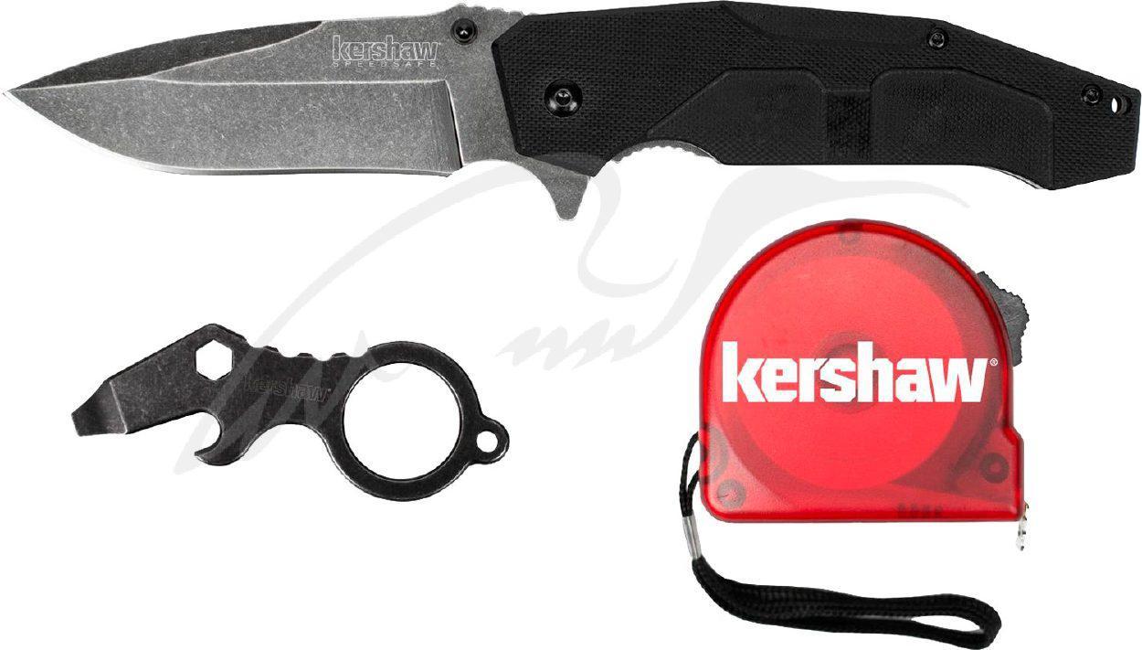 Нож Kershaw 1321KITX Do-It-Yourself 4Cr14 GFN, клипса, мультитул, рулетка