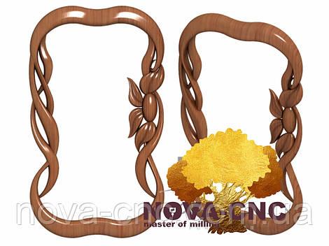 Резная рама из дерева  для картин и зеркал 133