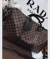 Сумка Louis Vuitton Keppall, 55 см, коричневая шахматка, Люкс, фото 1