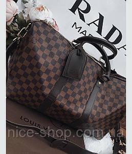 Сумка Louis Vuitton Keppall, 55 см, коричневая шахматка, Люкс