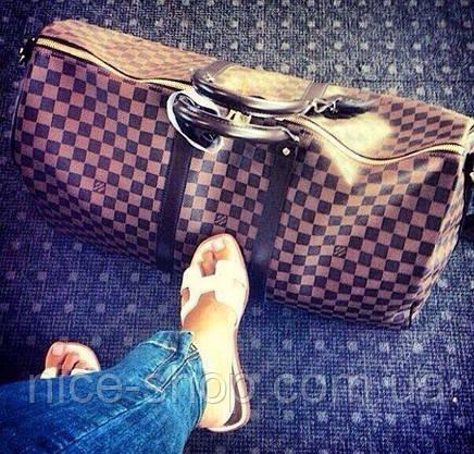Сумка Louis Vuitton Keppall, 55 см, коричневий шахматка, Люкс, фото 3