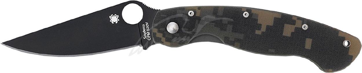Нож Spyderco Military Black Blade camo