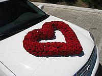 Оформление авто живыми роз