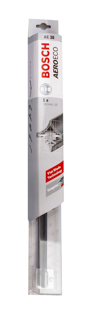 Щітка стеклоочист. 380 мм aeroeco (бескаркасн.) (6 адаптерів)