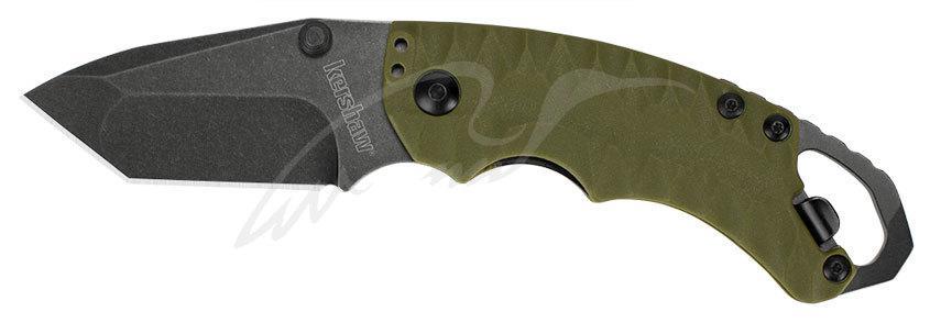Нож Kershaw Shuffle II Olive 8Cr13MoV, GFN, 2-хсторонняя клипса