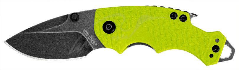 Нож Kershaw Shuffle Lime 8Cr13MoV, GFN, 2-хсторонняя клипса