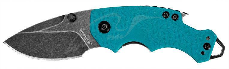Нож Kershaw Shuffle Teal 8Cr13MoV, GFN, 2-хсторонняя клипса