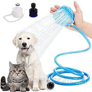 Щетка перчатка-душ для мойки животных Aquapaw