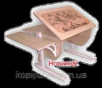 Детская парта трансформер ДЕМИ СУТ 14-12 Без стула из массива дерева. Гарантия 3 года.