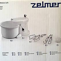 Надежный миксер с чашей Zelmer ZHM0806L (венчик для взбивания, для приготовления пюре; насадка для смешивания), фото 2