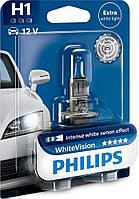 Галогенная лампа Philips H1 WhiteVision 12V 12258WHVB1 (1шт.)