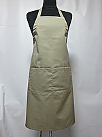 Фартук Atteks с нагрудником поварской / для официанта, бармена длинный бежевый - 00204