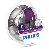 Галогенная лампа Philips VisionPlus H1 12V 12258VPS2 (2шт.)