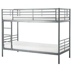 ✅ IKEA SVARTA (102.479.73) Кровать, серебро